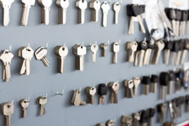 Blank keys on wall to make duplicate key